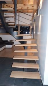 escalier fut central 14 Saint ours - Lugaz annecy