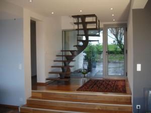 escalier fut central 56 St Martin bellevue - Lugaz annecy