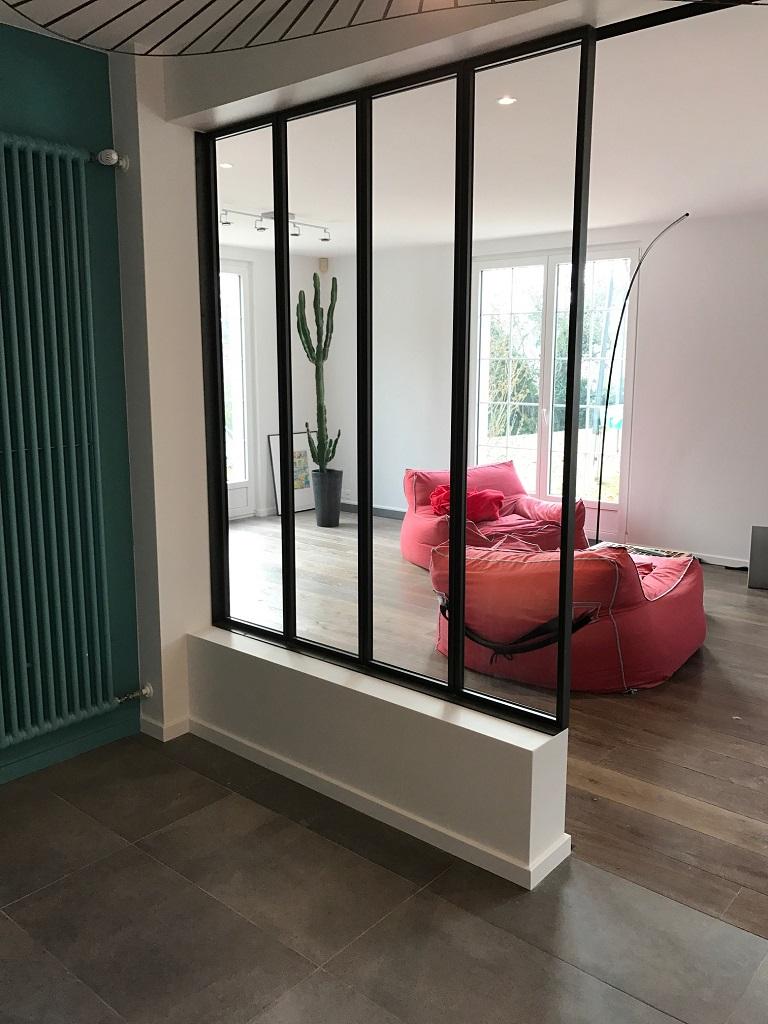 Cloison vitr e lugaz metallerie for Verriere cloison vitree